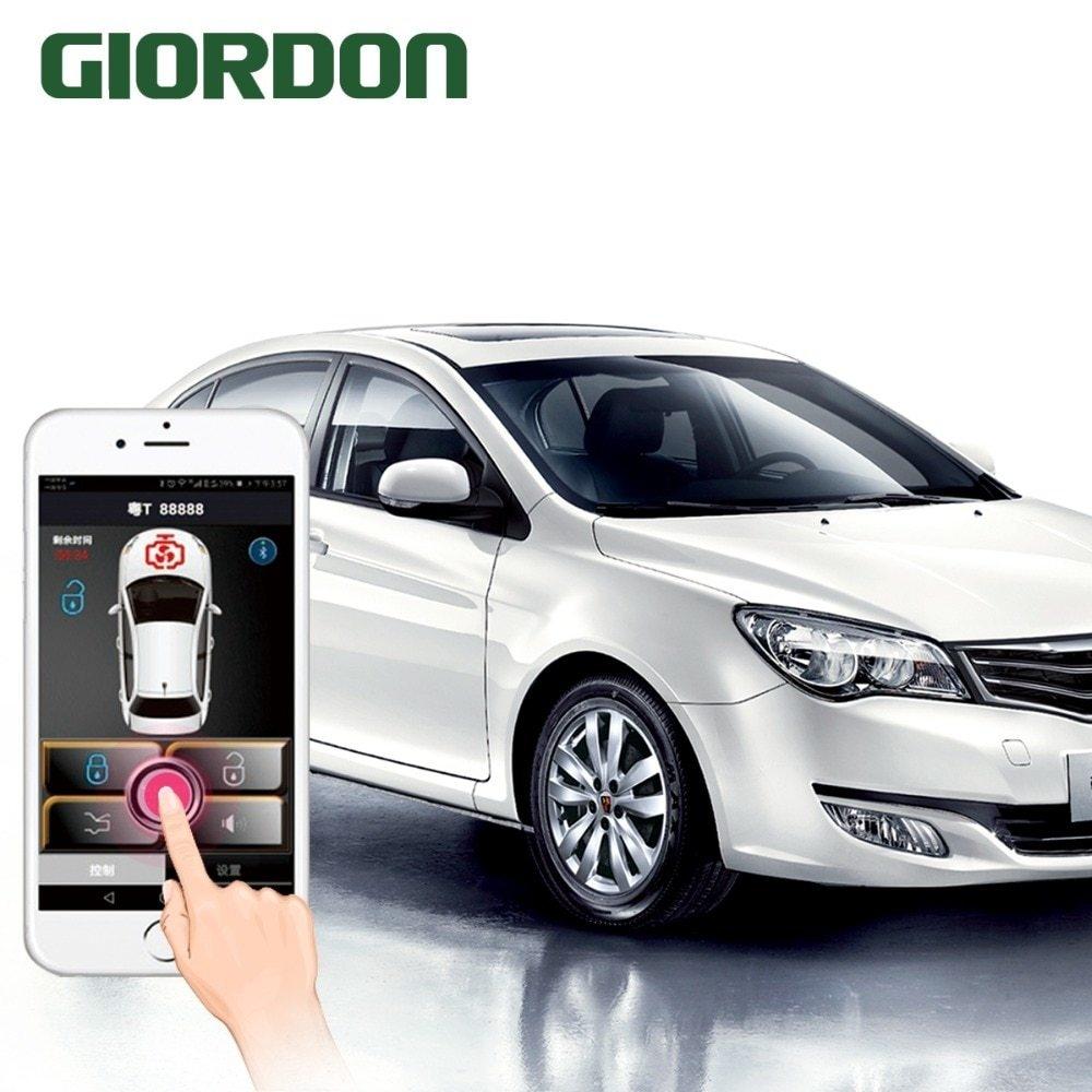 Generic PKE Smart Key Car Alarm System With Remote Start Stop Push