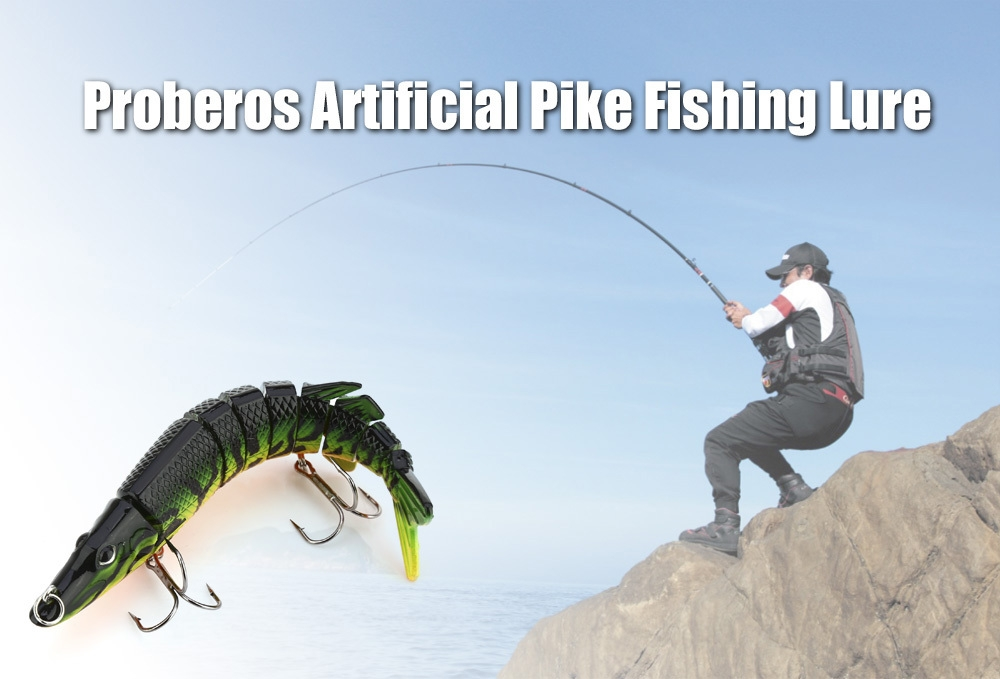 Proberos Artificial 9 Sections Pike Tackle Fishing Lure Crankbait