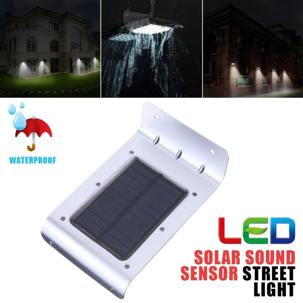 Buy Generic 16 Led Solar Power Sound Sensor Garden Home Security Panel Based Charger And Small Lamp Circuit Diagram Image