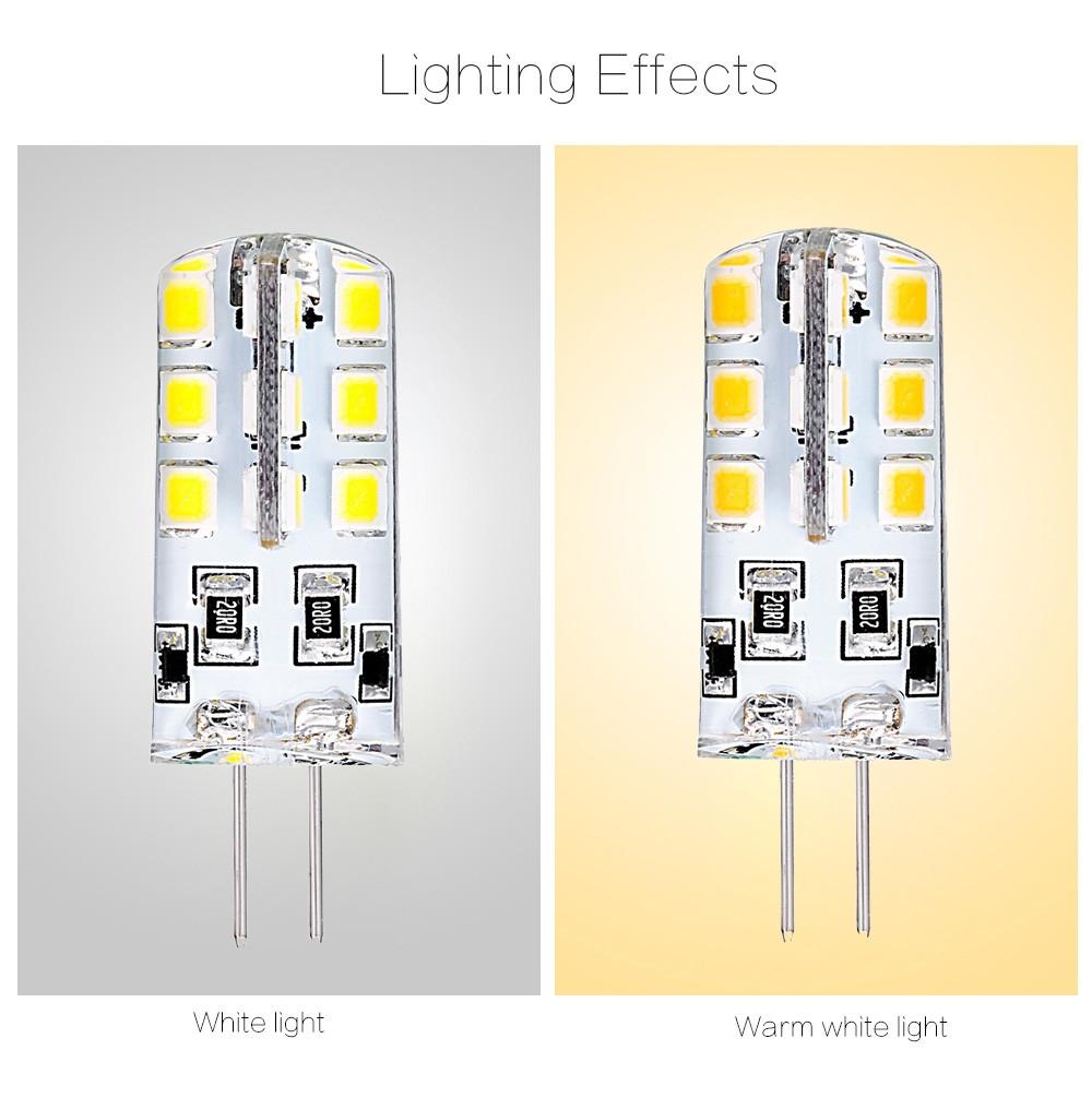 10pcs 1.8 - 2.2W G4 Base 24 LED Lamp DC 12V Warm White Light Undimmable 360 Degrees Beam Angle