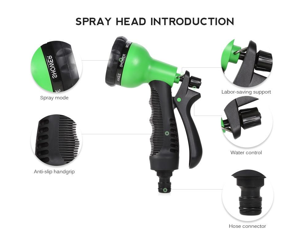 Garden Expandable Magic Flexible Water Hose Spray Nozzle 25 / 50 / 75 / 100ft