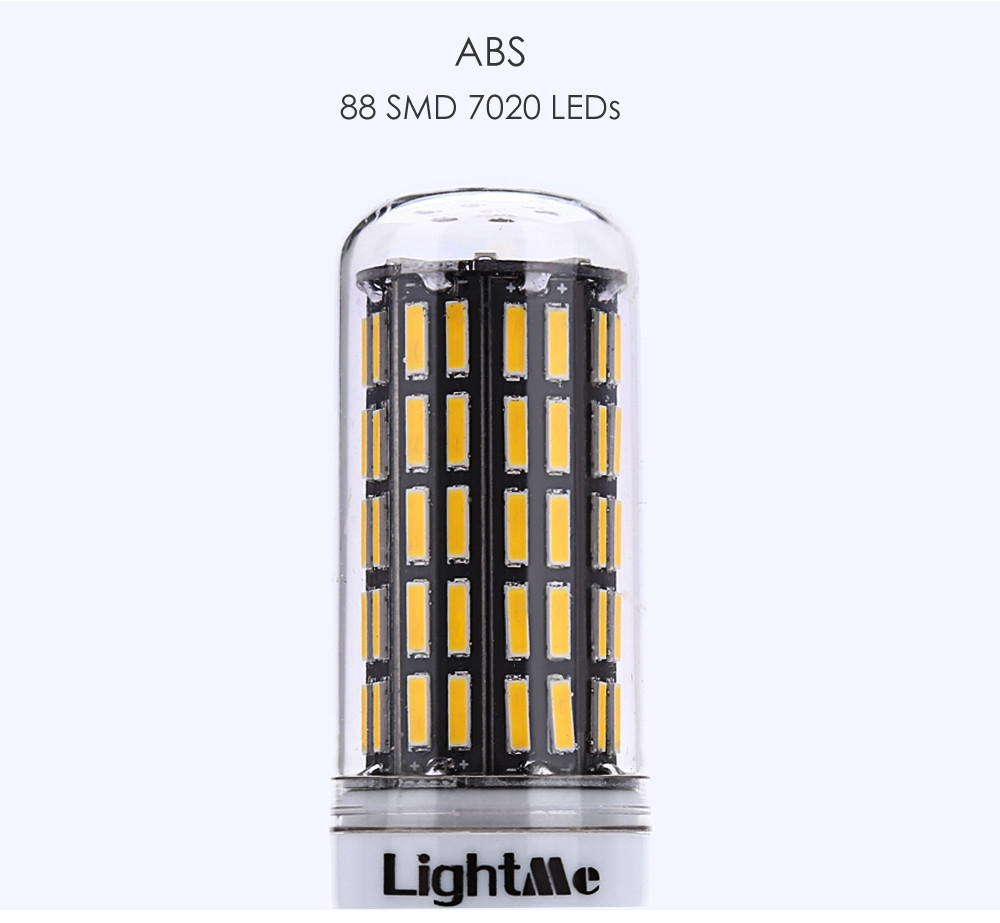 Lightme GU10 AC 85 - 265V 7W 650LM SMD 7020 LED Corn Bulb Light Energy Saving Lamp with 88 LEDs
