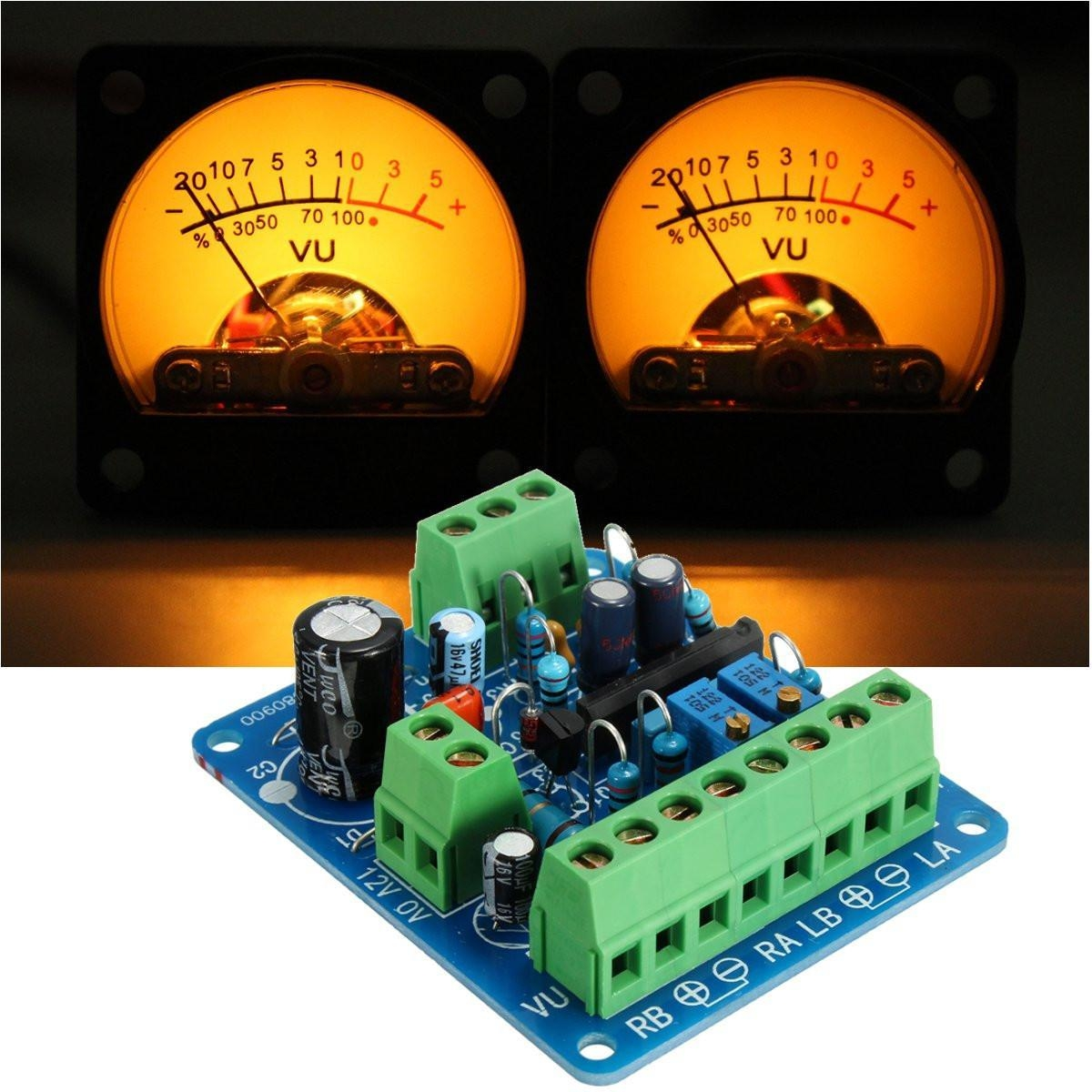 Buy Generic Audio Level Amp Driver Board With Two Vu Meter Best 3 Image