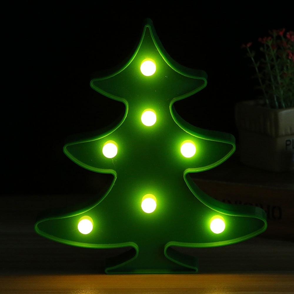 Buy Generic LED Christmas Tree Ornaments Table Modeling Lights Home ...