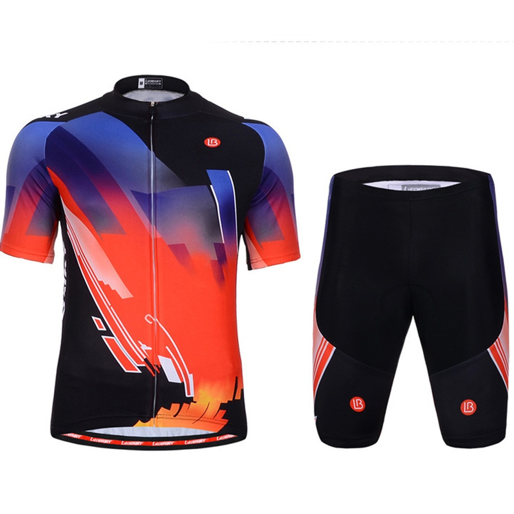Generic Men And Women Cycling Jersey Sets Short Sleeve Bike Breathable  Clothing BK XXL 4c983d91a