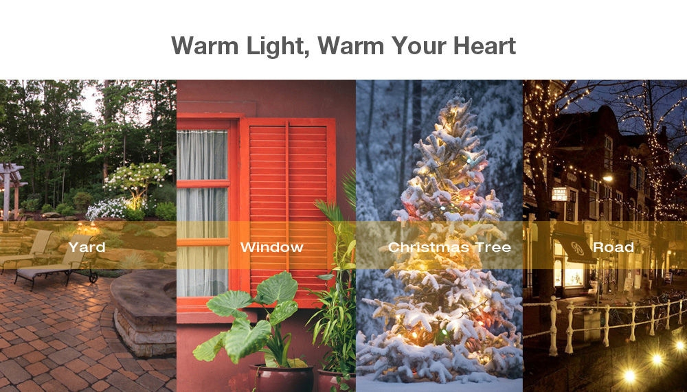 Solar Powered Waterproof 20 LEDs Lovely Moon String Lamp Home Yard Christmas Decoration
