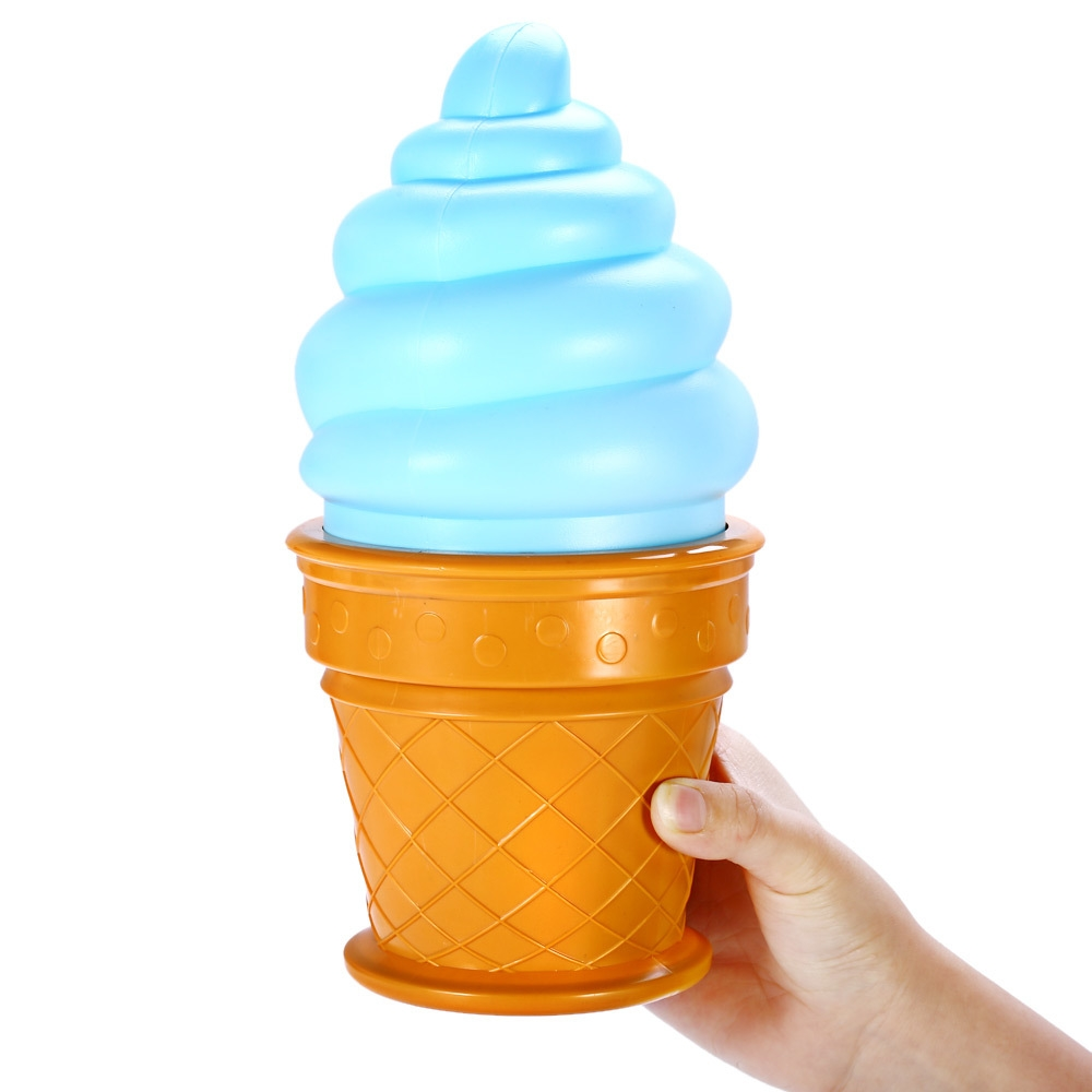 Ice Cream Cone Shaped Night Light Desk Table LED Lamp for Kids Children Bedroom Decor Lights