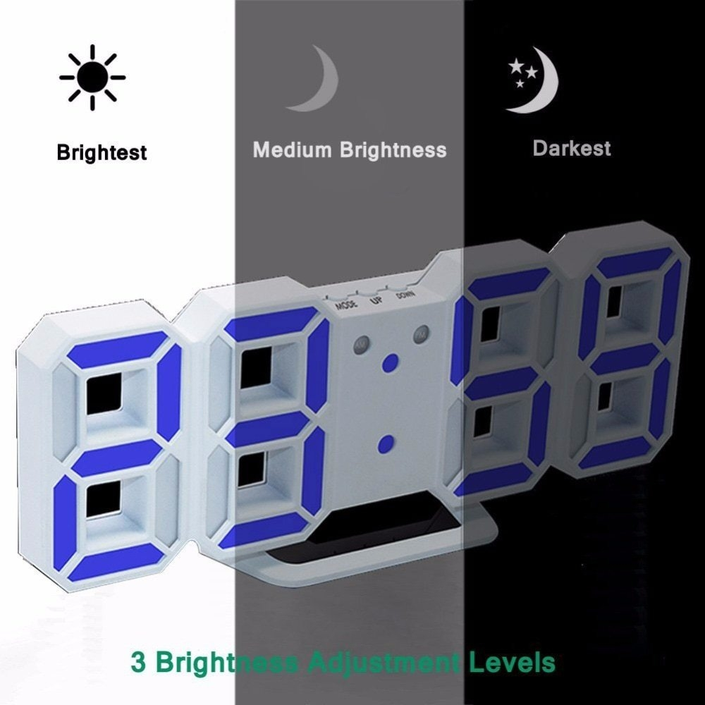 Generic New Modern Digital LED Table Clock Watches 24 or 12-Hour