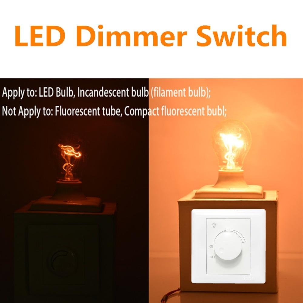Generic 110V/220V Adjustable Controller LED Dimmer Switch