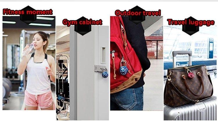 Master Lock Keyed Padlock Password Smart for Lock for a Suitcase Combination Lock for bag  Carousel gym locker lock Mini (7)