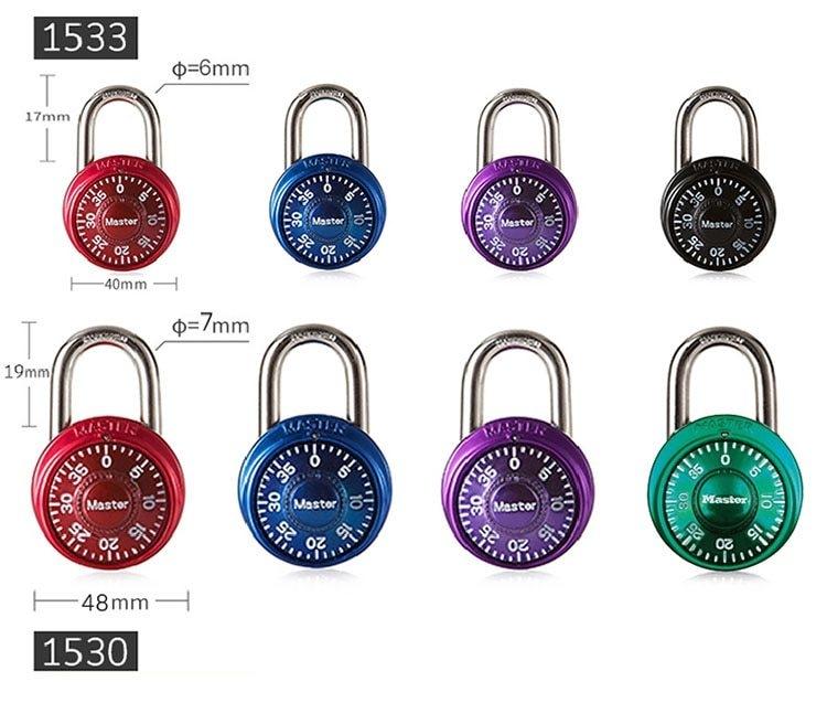 Master Lock Keyed Padlock Password Smart for Lock for a Suitcase Combination Lock for bag  Carousel gym locker lock Mini (6)