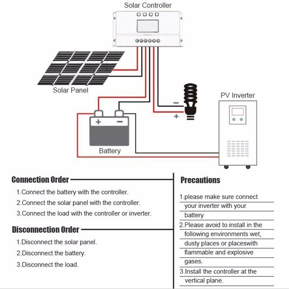 Buy Generic Ta Lcd Display 12v 24v Mppt Solar Panel Regulator Charge Marine Wiring Diagram Image