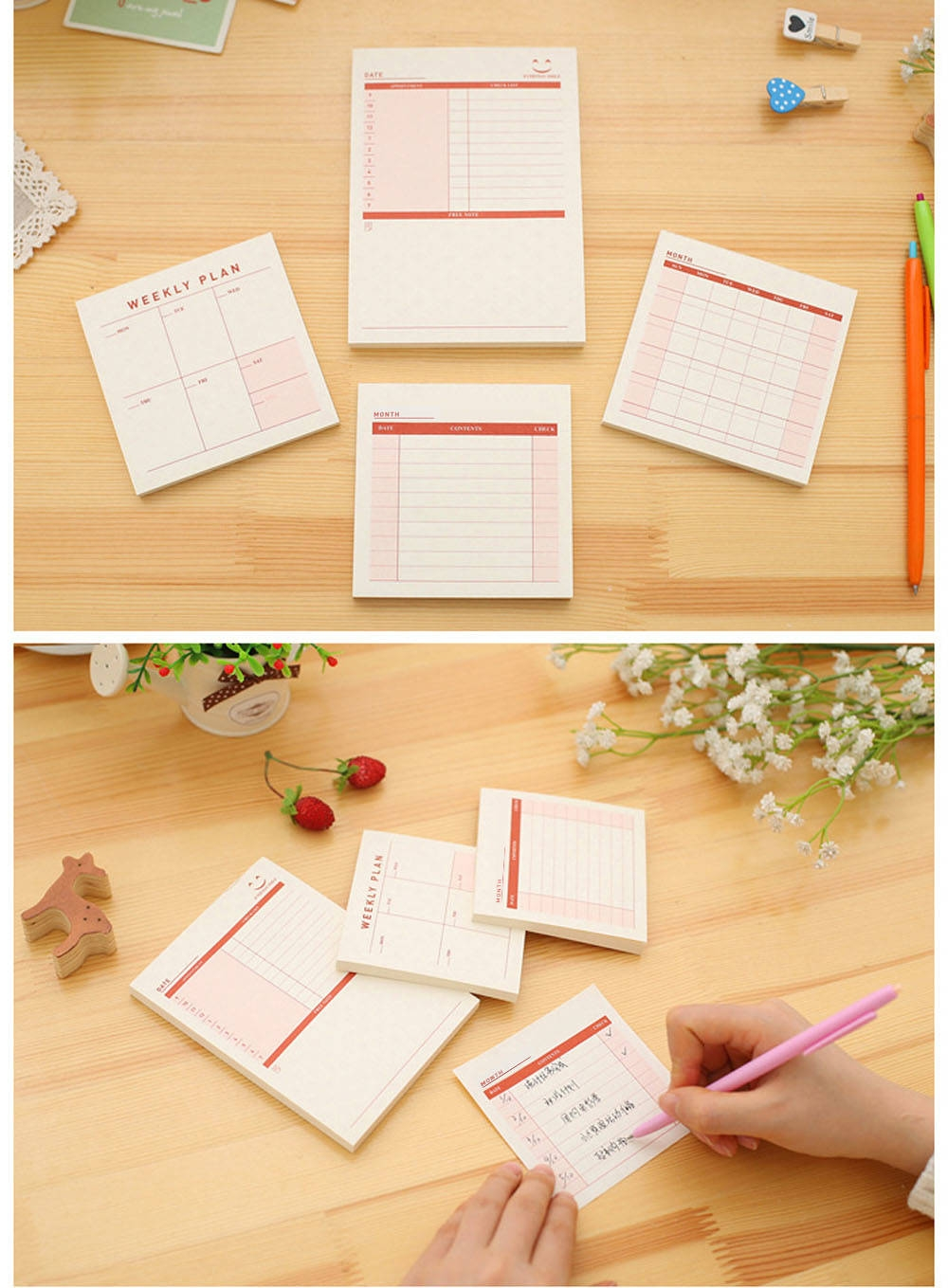 3 Type Office Business To-do List Notebook