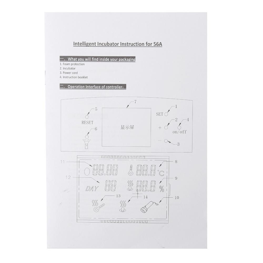 Buy Generic 32 Digital Egg Incubator Hatcher Temperature Control Wiring Diagram Image