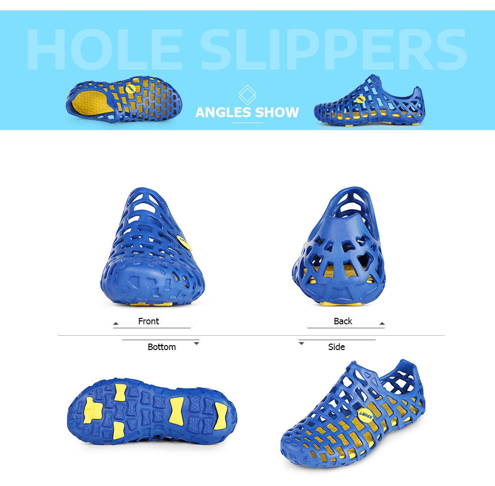 Trendy Unisex Hole Slippers Garden Beach Clogs Rain Outdoor Sandals