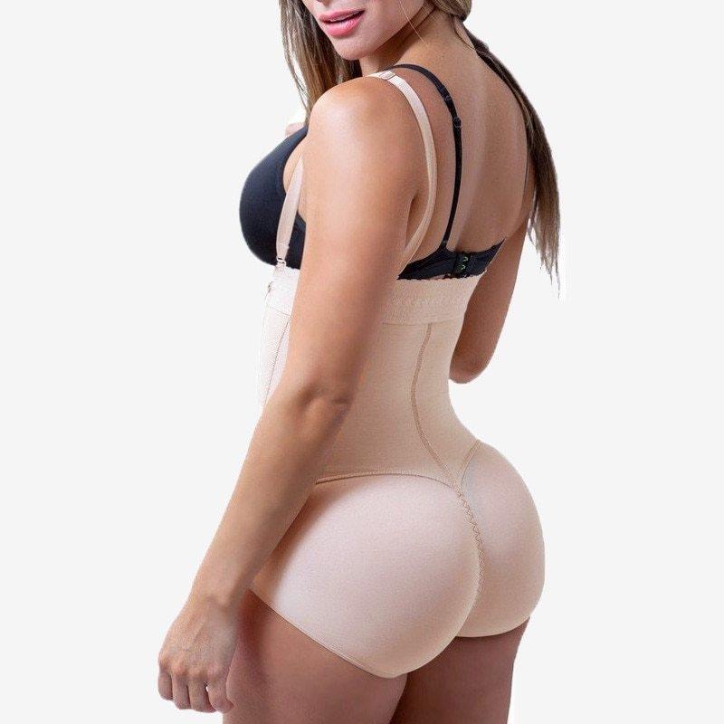 Plus Size Hot Latex Women's Body Shaper Post Liposuction Girdle Clip and Zip Bodysuit Vest Waist Shaper Reductoras Shapewear (17)