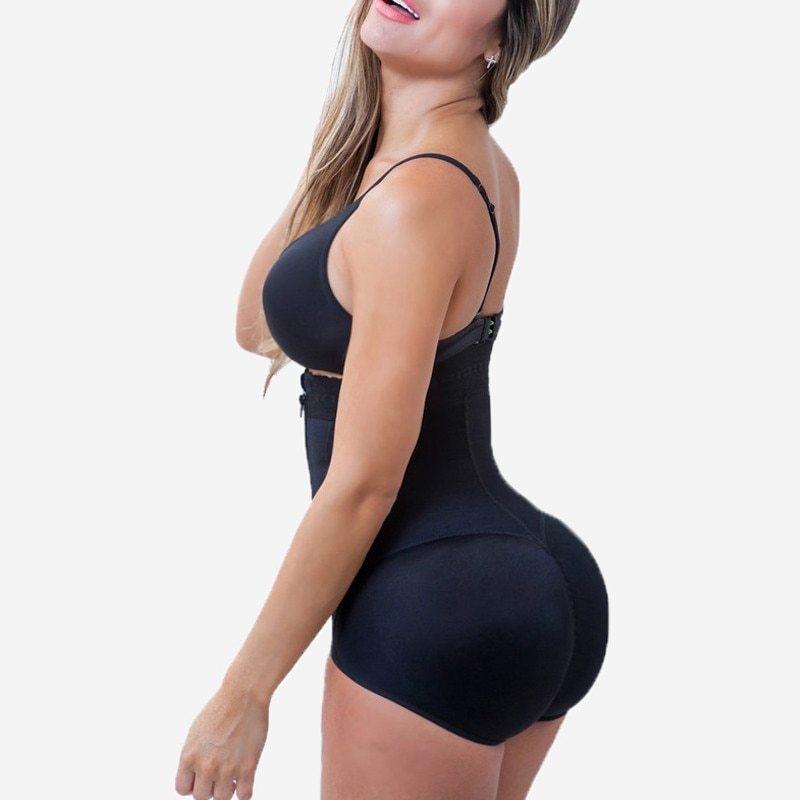 Plus Size Hot Latex Women's Body Shaper Post Liposuction Girdle Clip and Zip Bodysuit Vest Waist Shaper Reductoras Shapewear (18)