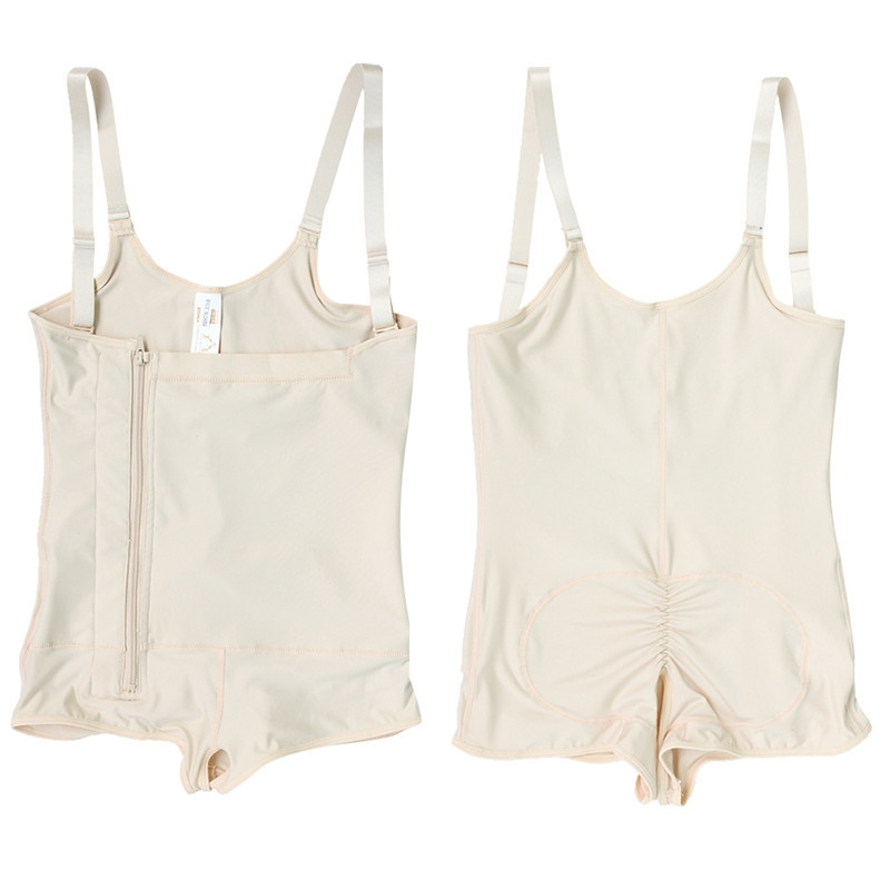 Plus Size Hot Latex Women's Body Shaper Post Liposuction Girdle Clip and Zip Bodysuit Vest Waist Shaper Reductoras Shapewear (9)