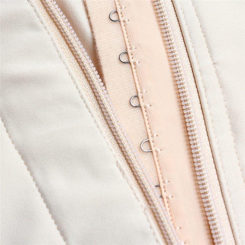Plus Size Hot Latex Women's Body Shaper Post Liposuction Girdle Clip and Zip Bodysuit Vest Waist Shaper Reductoras Shapewear (13)