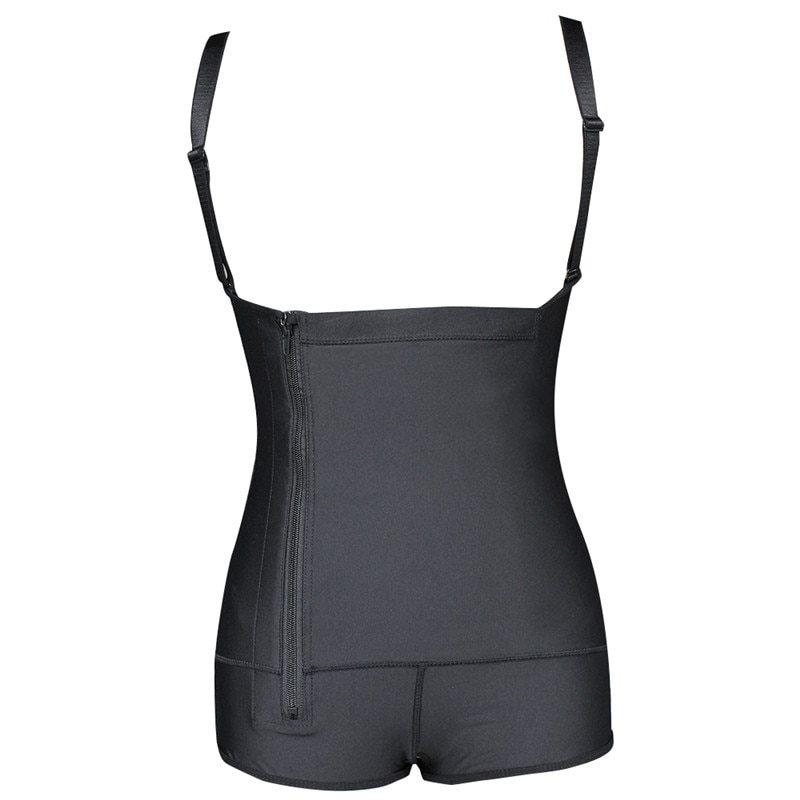 Plus Size Hot Latex Women's Body Shaper Post Liposuction Girdle Clip and Zip Bodysuit Vest Waist Shaper Reductoras Shapewear (3)