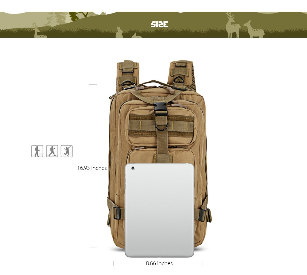 Free Knight 25L Outdoor Tactical Backpack Camouflage Bag Trekking Traveling Camping Hiking Rucksack