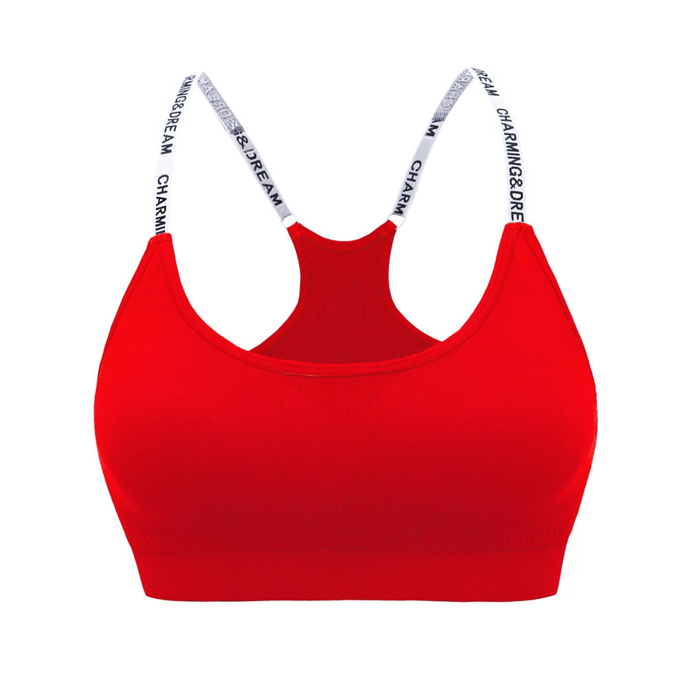 Generic Women's High-Strength Sports Yoga Running Bra High Impact ...