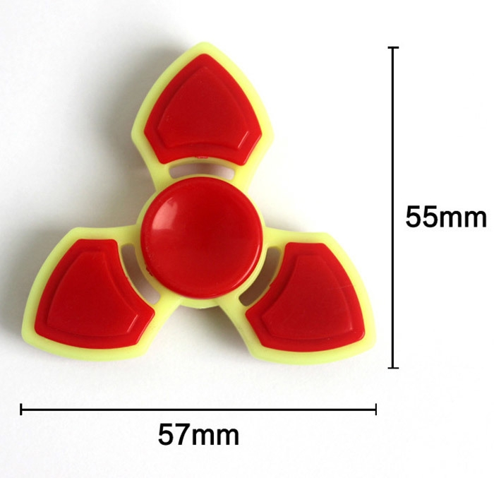 Three Leaf Finger Gyro Stress Relief Toy Fidget Spinner