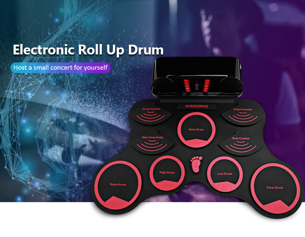 AEOFUN 10 Pads Electronic Roll Up Drum Kit with Recording Function