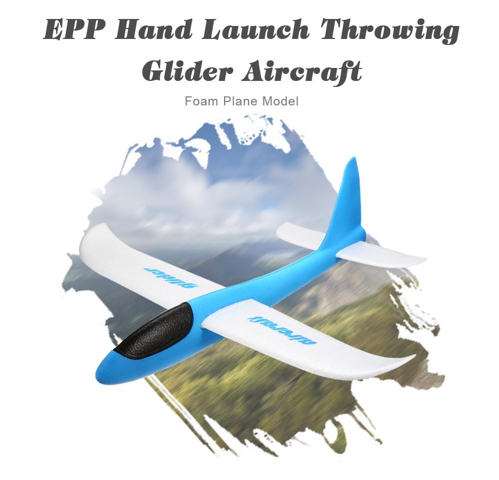EPP Hand Launch Throwing Glider Aircraft Inertial Foam Airplane Toy Plane Model Outdoor Fun Sport