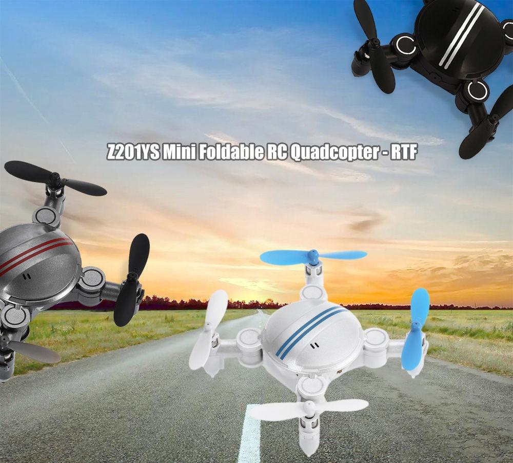 Z201YS Mini Foldable RC Drone RTF WiFi FPV / 0.3MP Camera / 2.4GHz 4CH 6-axis Gyro / Air Press Altitude Hold / Headless Mode