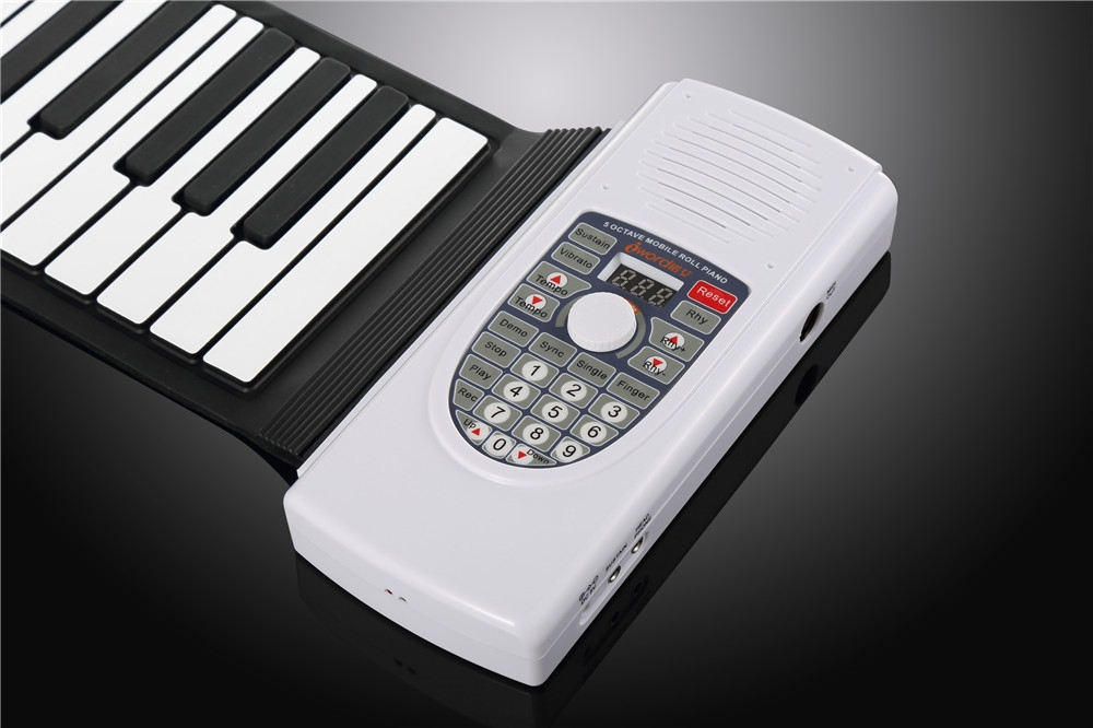 Iword S2090 Hand Roll Piano Flexible Roll Up 88 Keys  Keyboard Portable  Silicone Piano