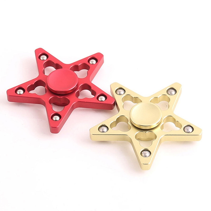 Stress Reducer Star Shaped EDC Fidget Spinner Finger Gyro