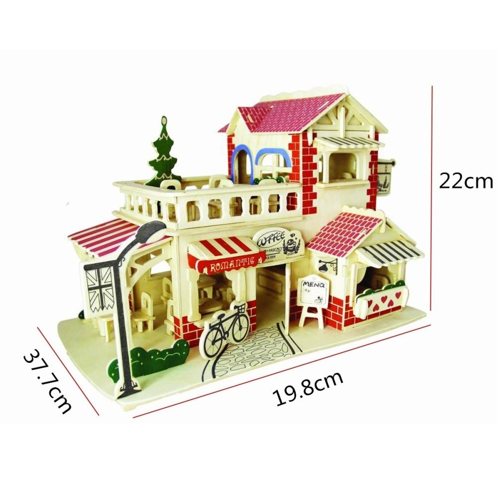 Generic Details about DIY Wooden Kids Dolls House Room Miniature Kit