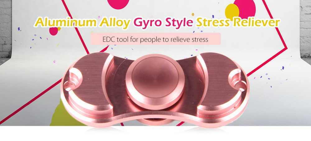 Aluminum Alloy Bearing Gyro Style Stress Reliever Pressure Reducing Toy for Office Worker