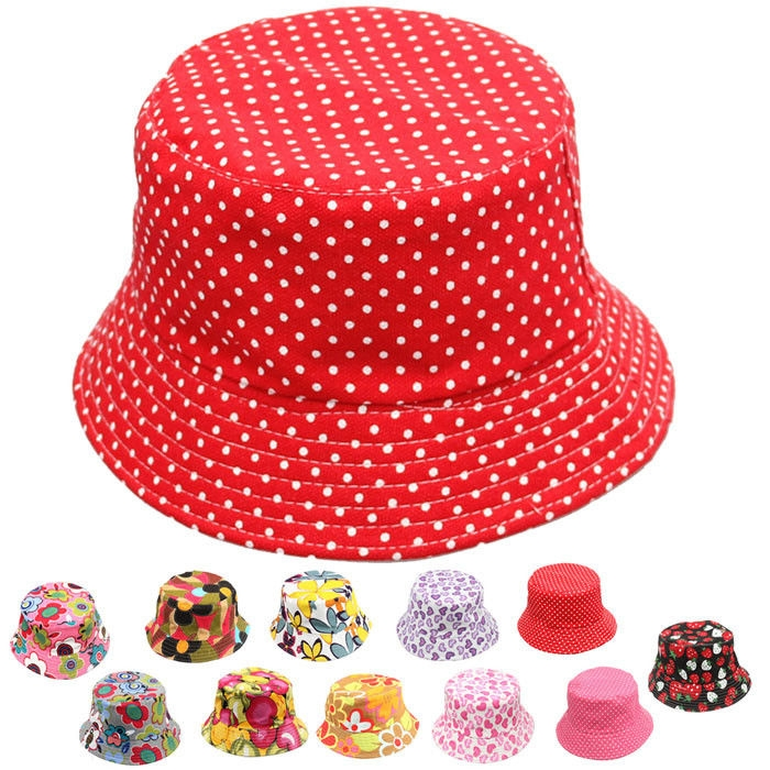 389174469f3 Fashion jiuhap store New Cute Kids Girl Baby Summer Outdoor Bucket Hats Cap  Sun Beach Beanie Hot -As shown