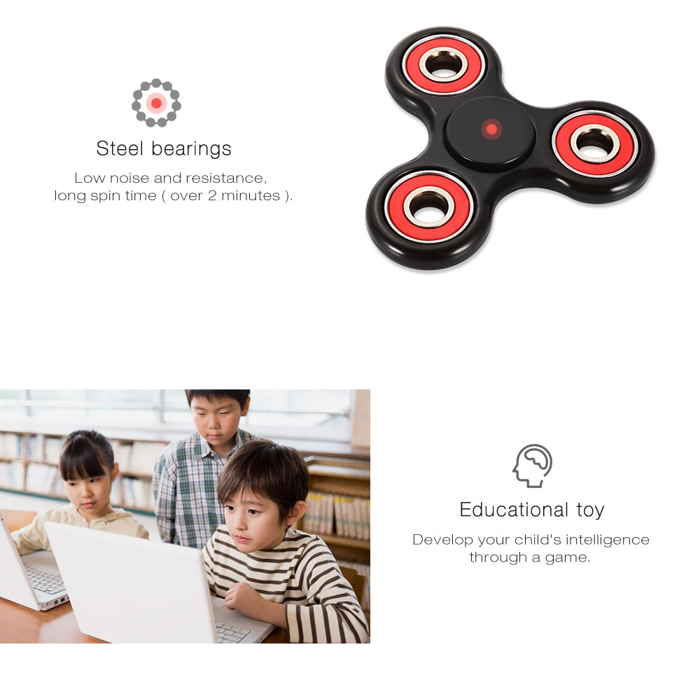 Trilateral Pattern ABS Hand Spinner Steel Bearings Finger Toy Stress Reliever Anxiety Reducer