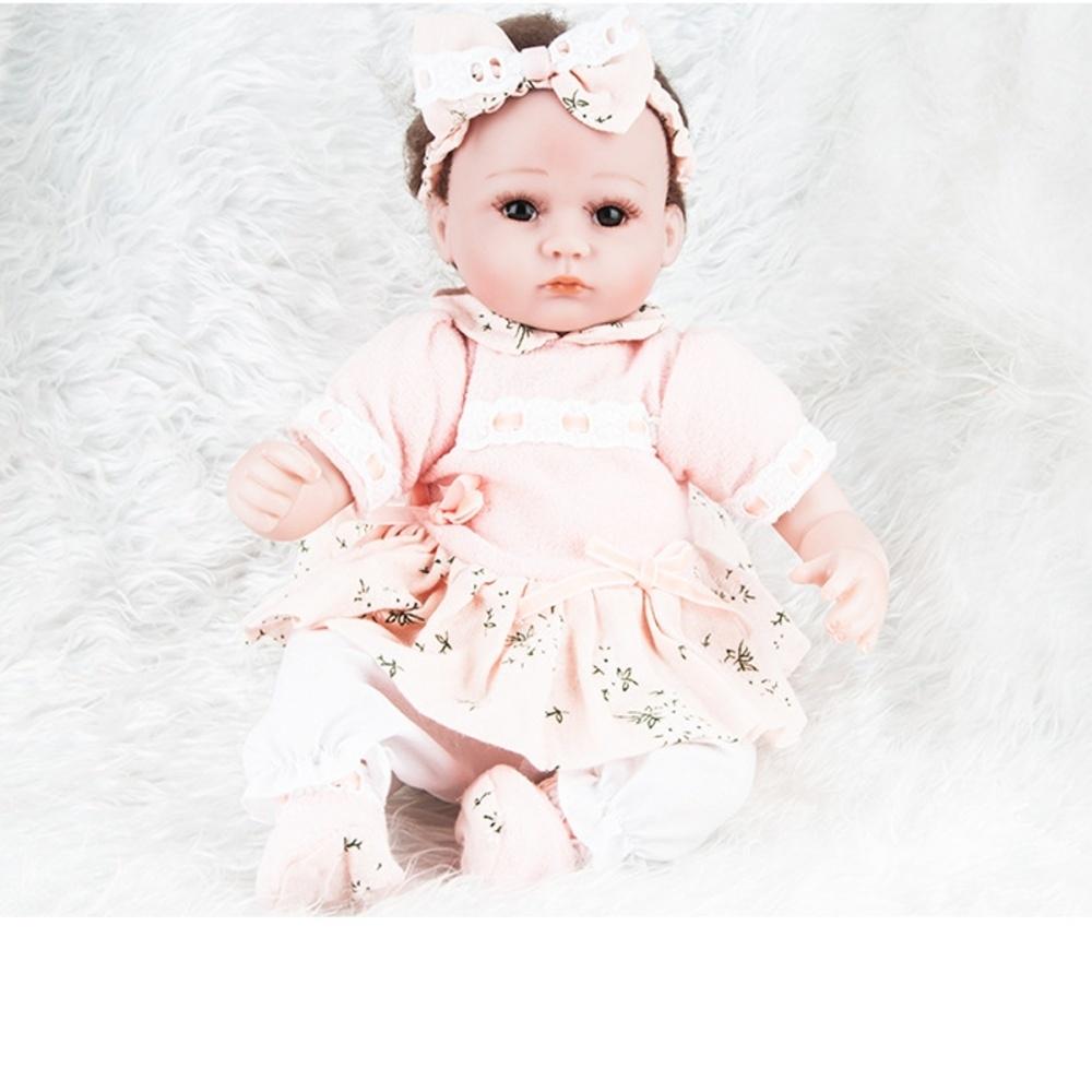 Generic 18 45cm Lifelike Newborn Babies Silicone Vinyl Reborn Baby