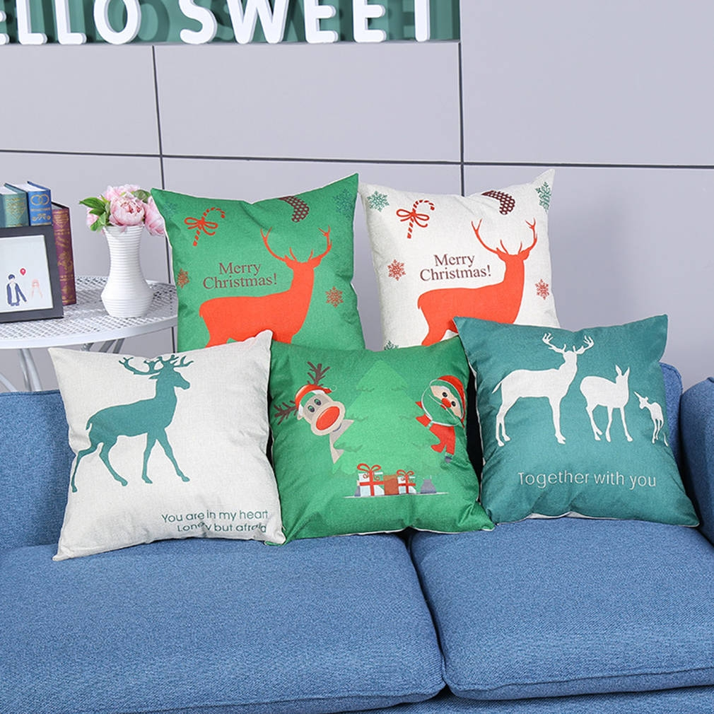 45cm*45cm Deer Cotton Linen Pillowcase Throw Pillow Houseware Pillow Cushion - Jumia Kenya