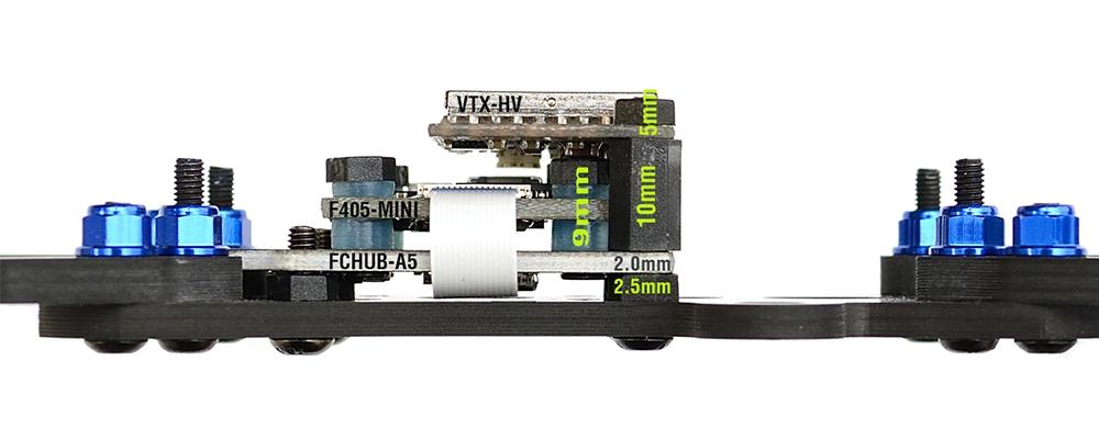 Matek Systems F4 F405 Mini Flight Controller Integrated OSD 32K Gyro 32M Flash 20X20mm for RC Drone FPV Racing