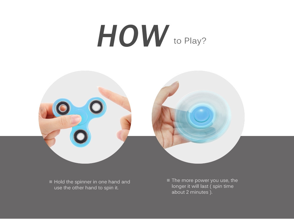 Homochromy Trilateral Pattern ABS Hand Spinner Steel Bearings Finger Toy Stress Reliever Anxiety Reducer