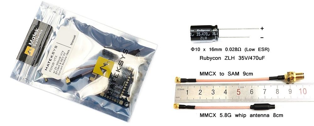 Matek Systems FCHUB - VTX F4 F405 Mini Flight Controller Integrated OSD 32K Gyro 32M Flash 20X20mm for RC Drone FPV Racing