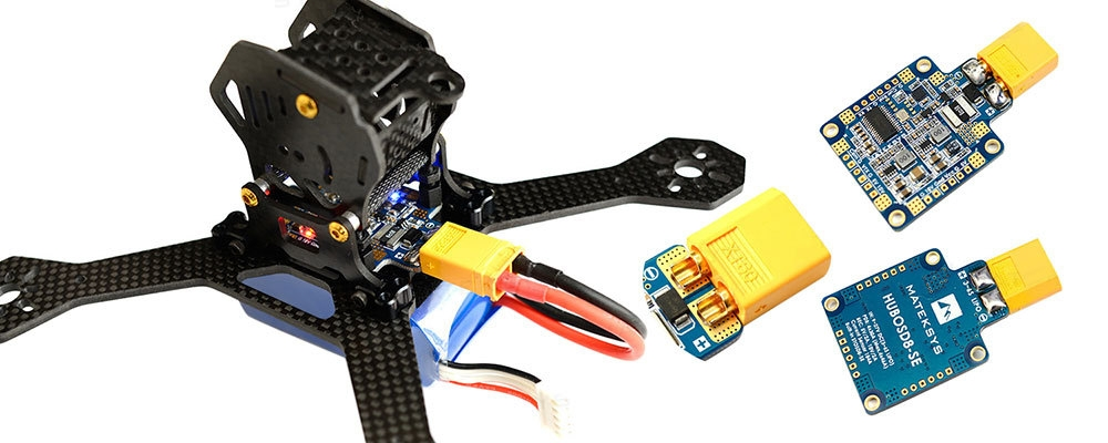 Matek Systems HUBOSD8 - SE 9 - 27V PDB with STOSD8 - SE 5V 10V Dual BEC for RC Drone
