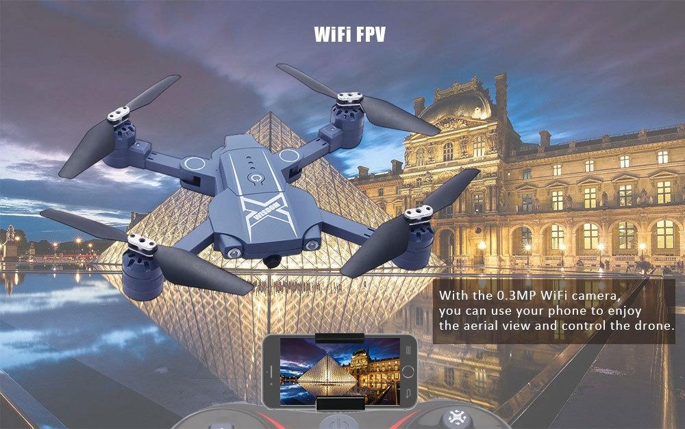 BAO NIU HC629W Foldable RC Drone BNF WiFi FPV 0.3MP Camera / Air Press Altitude Hold / Headless Mode