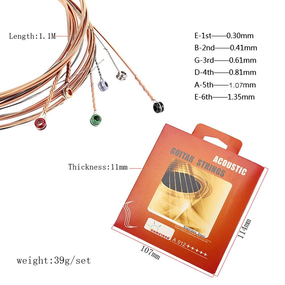 Acoustic Guitar Strings Set 012 6PCS