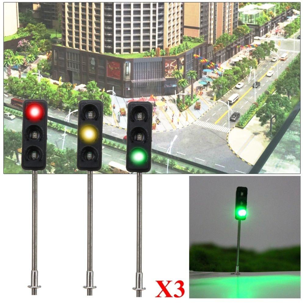 Generic 3x 50mm HO / OO Model 3-Light Traffic Lights Signal