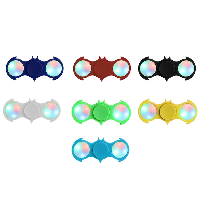 Fiddle Toy Colorful Flashing LED Lights Bat Fidget Spinner