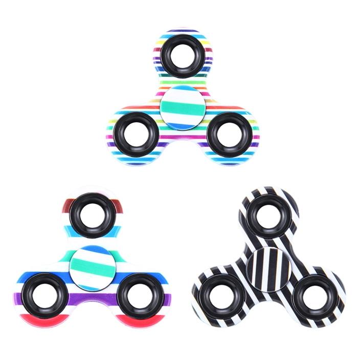 Focus Toy Triangle Striped Finger Gyro Fidget Spinner