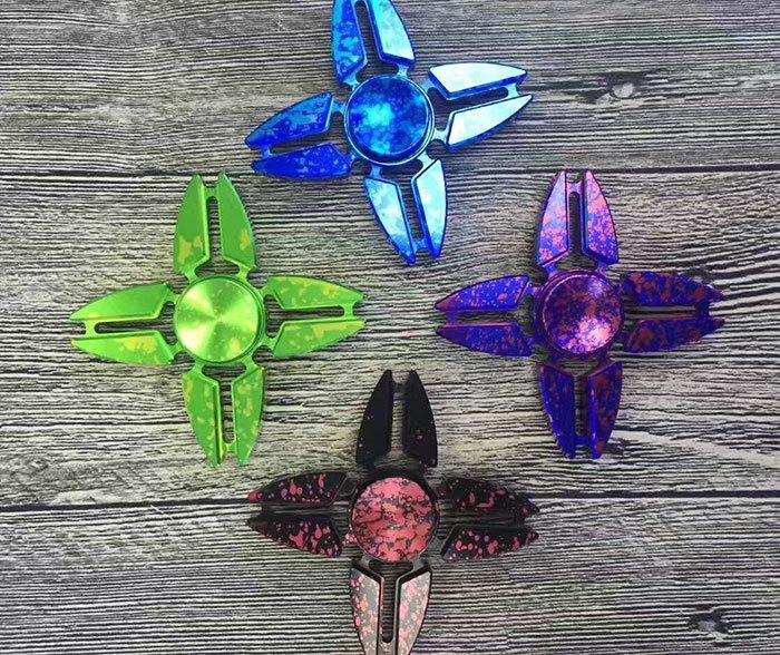 Four Leaves Dart Shape Focus Toy Fidget Spinner