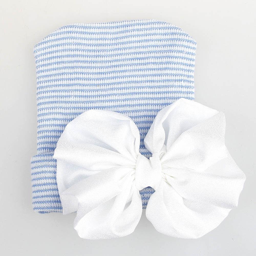 aa7f5b3695a Generic jiuhap store Cute Baby Girls Boys Bowknot Cartoon Toddlers Cotton  Sleep Cap Headwear Hat-Blue