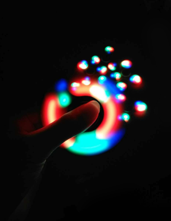 Anti-Stress Toy Color Changing LED Fidget Finger Spinner